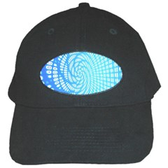 Abstract Pattern Neon Glow Background Black Cap