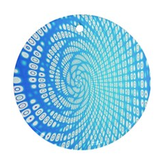 Abstract Pattern Neon Glow Background Ornament (Round)