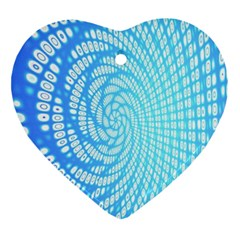Abstract Pattern Neon Glow Background Ornament (heart)