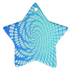 Abstract Pattern Neon Glow Background Ornament (star)