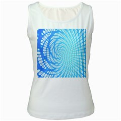 Abstract Pattern Neon Glow Background Women s White Tank Top