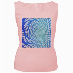 Abstract Pattern Neon Glow Background Women s Pink Tank Top
