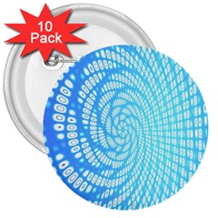 Abstract Pattern Neon Glow Background 3  Buttons (10 pack)