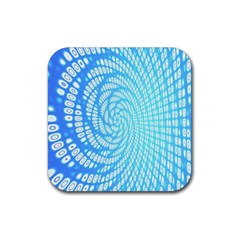 Abstract Pattern Neon Glow Background Rubber Coaster (square)