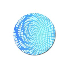 Abstract Pattern Neon Glow Background Magnet 3  (round)