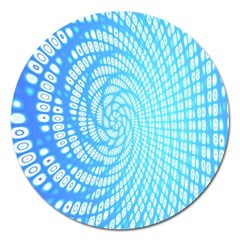 Abstract Pattern Neon Glow Background Magnet 5  (Round)