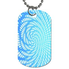 Abstract Pattern Neon Glow Background Dog Tag (two Sides)