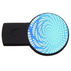 Abstract Pattern Neon Glow Background USB Flash Drive Round (1 GB)