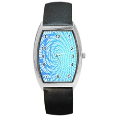 Abstract Pattern Neon Glow Background Barrel Style Metal Watch