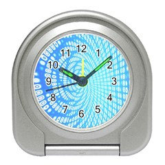 Abstract Pattern Neon Glow Background Travel Alarm Clocks