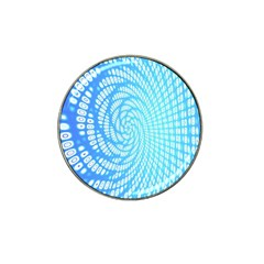 Abstract Pattern Neon Glow Background Hat Clip Ball Marker