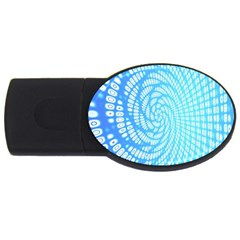 Abstract Pattern Neon Glow Background USB Flash Drive Oval (4 GB)