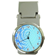 Abstract Pattern Neon Glow Background Money Clip Watches