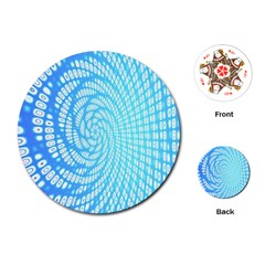 Abstract Pattern Neon Glow Background Playing Cards (round)