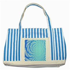 Abstract Pattern Neon Glow Background Striped Blue Tote Bag