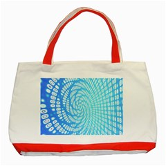 Abstract Pattern Neon Glow Background Classic Tote Bag (Red)