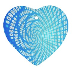 Abstract Pattern Neon Glow Background Heart Ornament (Two Sides)