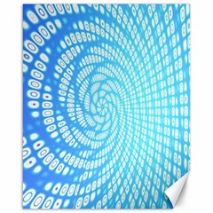 Abstract Pattern Neon Glow Background Canvas 16  X 20