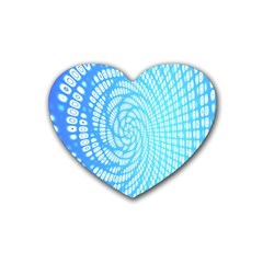Abstract Pattern Neon Glow Background Heart Coaster (4 Pack)
