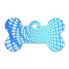 Abstract Pattern Neon Glow Background Dog Tag Bone (one Side)