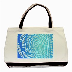 Abstract Pattern Neon Glow Background Basic Tote Bag (two Sides)