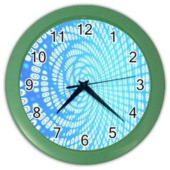 Abstract Pattern Neon Glow Background Color Wall Clocks