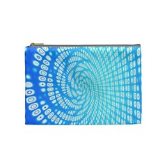 Abstract Pattern Neon Glow Background Cosmetic Bag (medium)