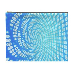 Abstract Pattern Neon Glow Background Cosmetic Bag (xl)