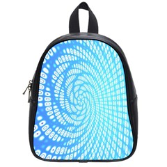 Abstract Pattern Neon Glow Background School Bags (Small)