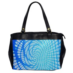 Abstract Pattern Neon Glow Background Office Handbags