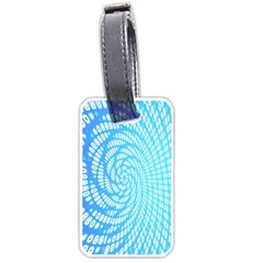 Abstract Pattern Neon Glow Background Luggage Tags (two Sides)