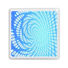 Abstract Pattern Neon Glow Background Memory Card Reader (square)