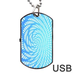 Abstract Pattern Neon Glow Background Dog Tag Usb Flash (one Side)
