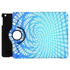 Abstract Pattern Neon Glow Background Apple Ipad Mini Flip 360 Case