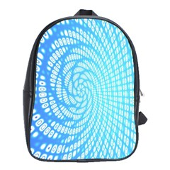 Abstract Pattern Neon Glow Background School Bags (xl)