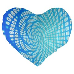 Abstract Pattern Neon Glow Background Large 19  Premium Heart Shape Cushions