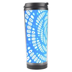 Abstract Pattern Neon Glow Background Travel Tumbler