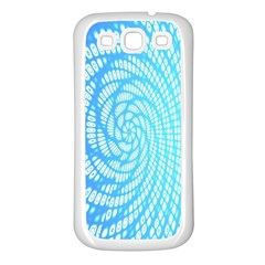 Abstract Pattern Neon Glow Background Samsung Galaxy S3 Back Case (White)