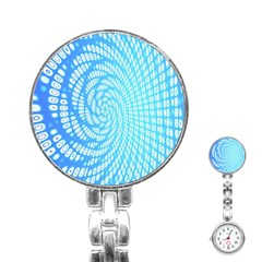 Abstract Pattern Neon Glow Background Stainless Steel Nurses Watch