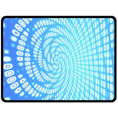 Abstract Pattern Neon Glow Background Double Sided Fleece Blanket (Large)