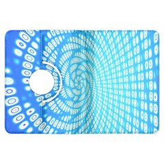 Abstract Pattern Neon Glow Background Kindle Fire HDX Flip 360 Case