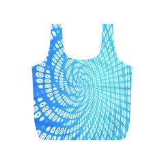 Abstract Pattern Neon Glow Background Full Print Recycle Bags (s)