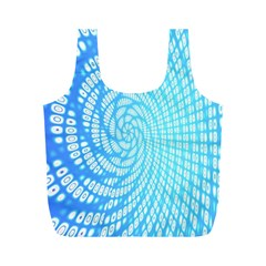 Abstract Pattern Neon Glow Background Full Print Recycle Bags (M)