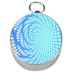 Abstract Pattern Neon Glow Background Silver Compasses
