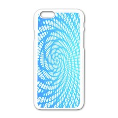 Abstract Pattern Neon Glow Background Apple Iphone 6/6s White Enamel Case