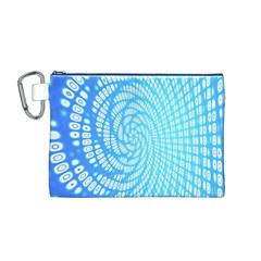 Abstract Pattern Neon Glow Background Canvas Cosmetic Bag (m)