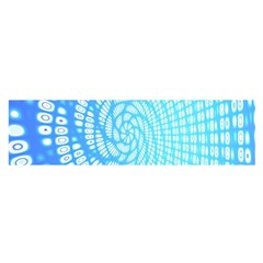 Abstract Pattern Neon Glow Background Satin Scarf (oblong)