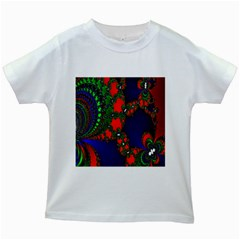Recurring Circles In Shape Of Amphitheatre Kids White T Shirts