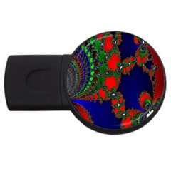 Recurring Circles In Shape Of Amphitheatre Usb Flash Drive Round (2 Gb)