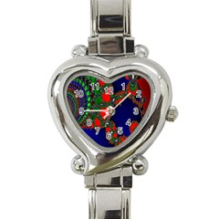 Recurring Circles In Shape Of Amphitheatre Heart Italian Charm Watch